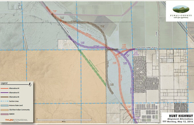 Pinal County Planning to Move Hunt Hwy